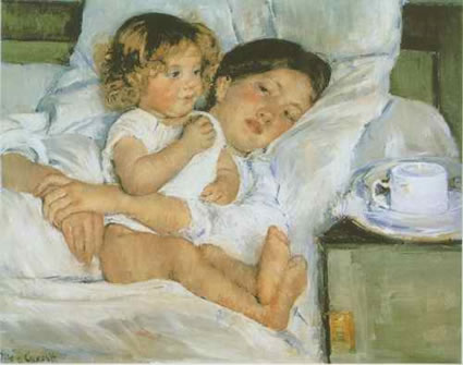 Breakfast in Bed - Mary Cassat
