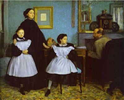 The Bellelli Family, also known as Family Portrait - Edgar Degas