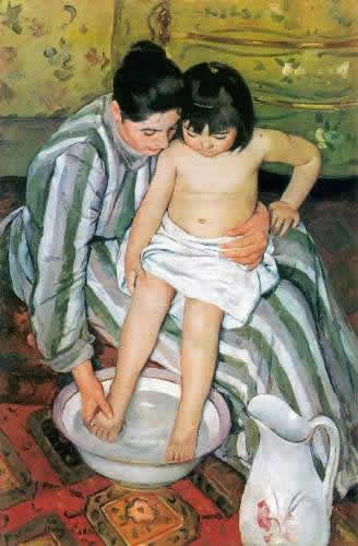 The Bath, Mary Cassat Mothering oneself well