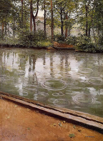 Raindrops - Gustave Caillebotte