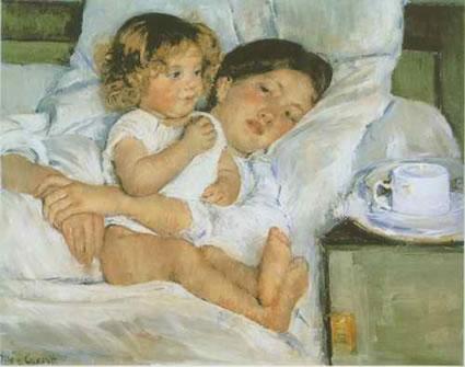 Breakfast in Bed - Mary Cassat