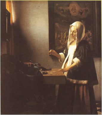 Woman With A Balance - Johannes Vermeer