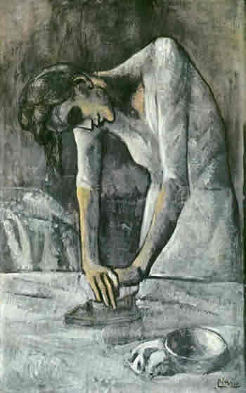 Is work is draining the life out of you? Picasso, Woman Ironing